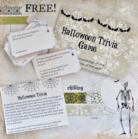 Freebie | Printable Halloween Trivia Game – Scrap Booking
