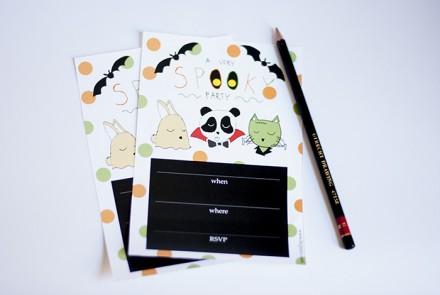 Freebie - Printable Halloween Party Invites