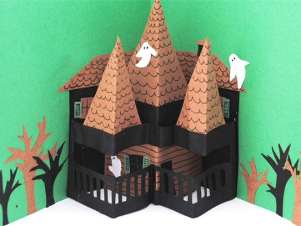 Tutorial - pop-up-haunted-house-by Creative in Chicago #scrapbooking #halloween #craftgossip