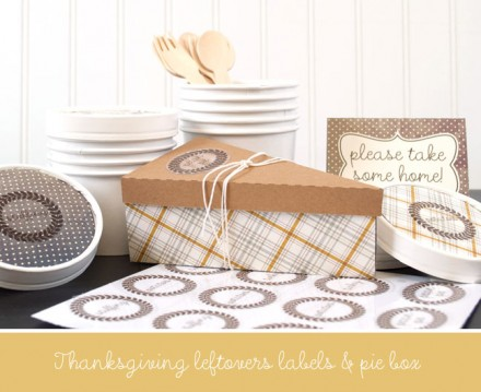 Freebie - Cut File for Thanksgiving leftover box and labels from Silhouette