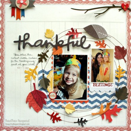 Inspiration du Jour - Thankful Blessings by Heather Leonard