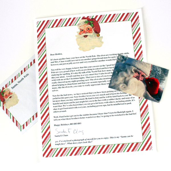 Tutorial & Freebies | A Letter From Santa from the North Pole