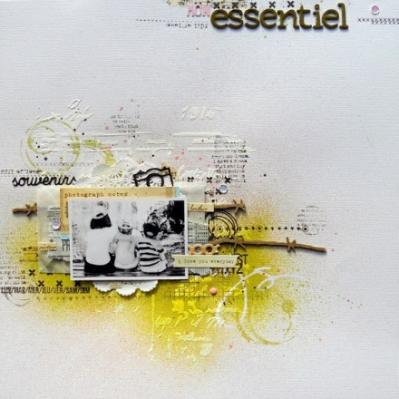 Inspiration du Jour - Mon Essentirl by Nine Scrap