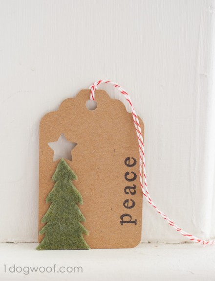 Tutorial - Felt Tree Tag at One Dog Woof