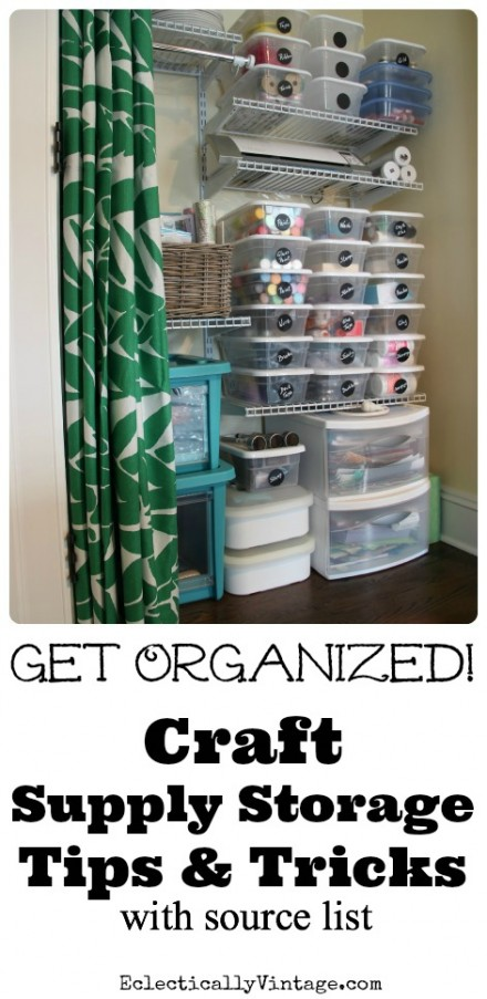 Craft-Supply-Storage-Tips from Kelly at Eclectically Vintage