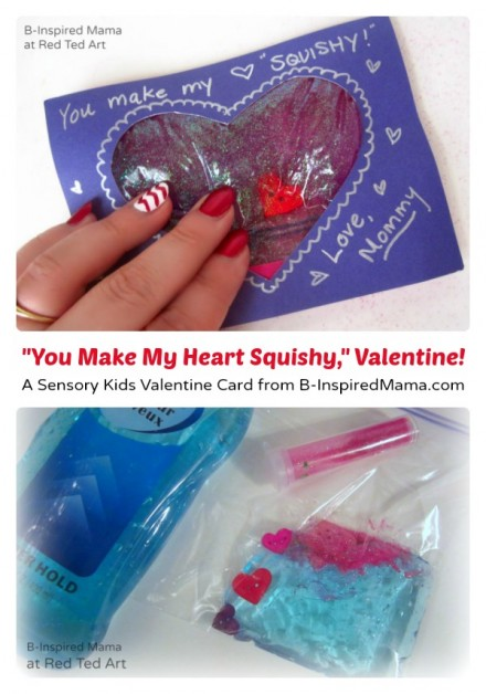 Tutorial - Squishy heart Card for Kids by B-Inspired Mama at red ted Art