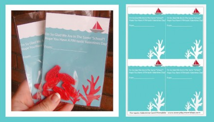 Freebie - Fintastic Valentine Printable for swedish fish from Everyday Mom Ideas