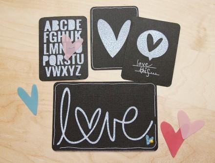 Tutorial - Faux Chalkboard Valentine's Art by Gillian Nelson