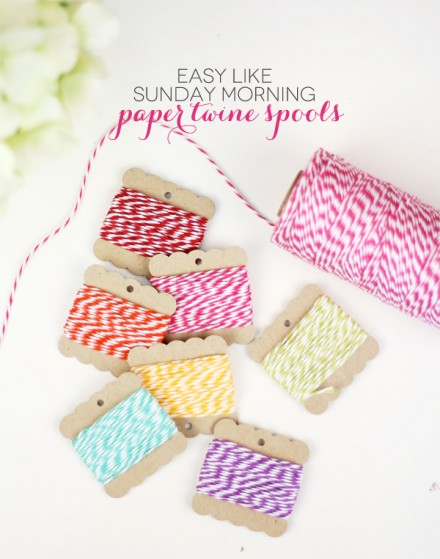 Tutorial - Paper Twine Spools from Damask Love