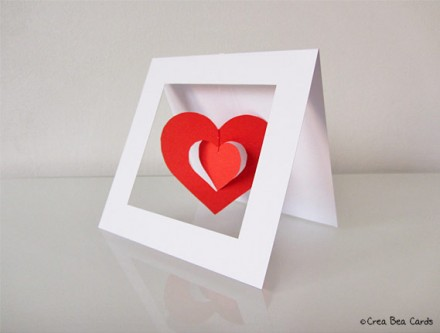Tutorial - Twirly Heart Valentine Card by Crea Bea Cards