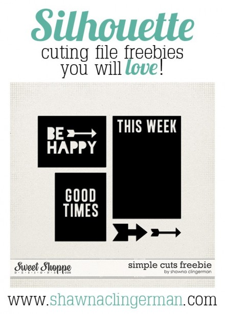 Freebie - Silhouette Cutting File Freebies from Shawna Clingerman