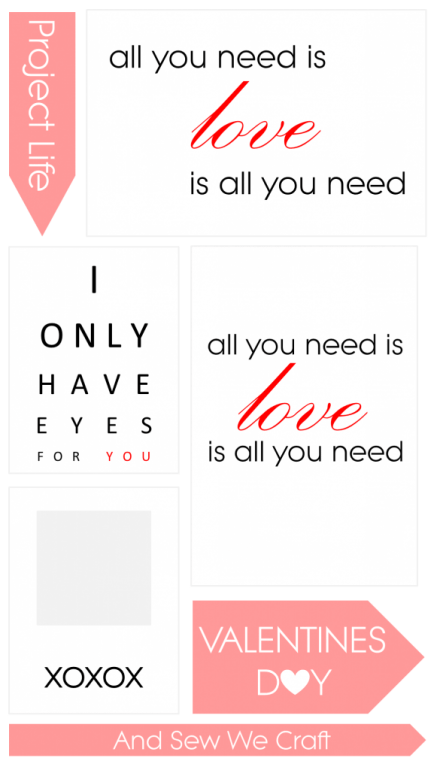 Freebie - Valentine's Day Printables from And Sew We Craft