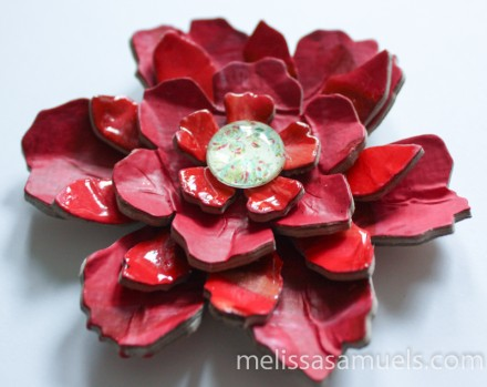 Tutorial - Acrylic Paint Skin Flower by Melissa Samuels