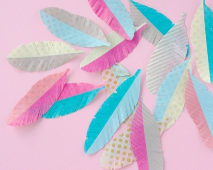Tutorial - DIY Washi Tape feather by Omiyage Blogs