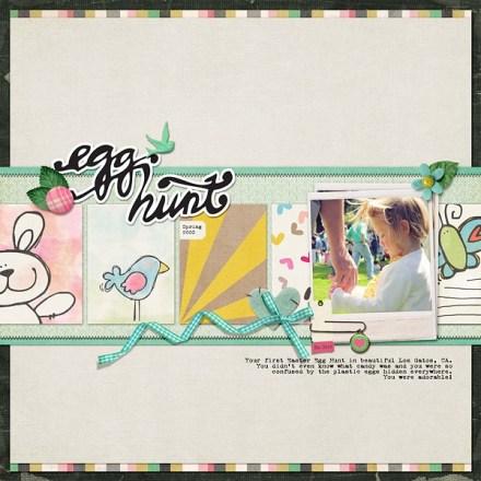 Inspiration du Jour - Egg Hunt by JennMcCabe
