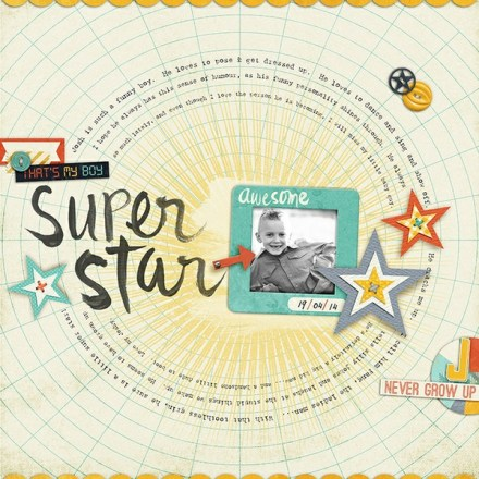 Inspiration du Jour - Super Star by zoepearn