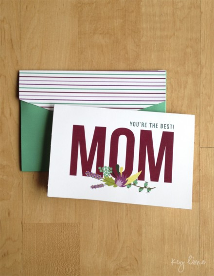 printable mother's day card from key lime digital designs