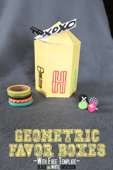 Freebie - Paper-Crafts-Geometric-Thanks-Favor-Box from Black & White Obsession