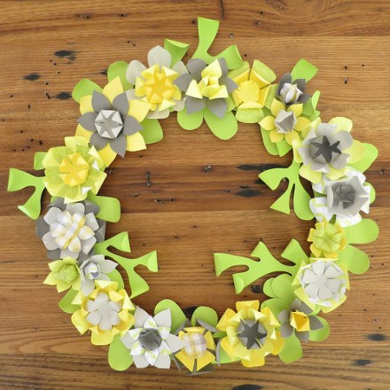 Tutorial - Paper Flower Wreath by Just Crafty Enough