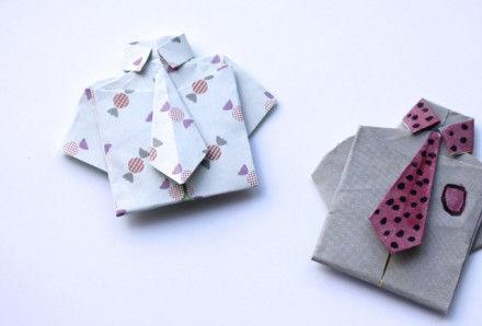 Tutorial - origami shirt for Father's Day
