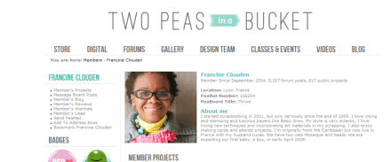 Member_Profile_-_Francine_Clouden_-_Two_Peas_in_a_Bucket_-_2014-07-01_14.34.27