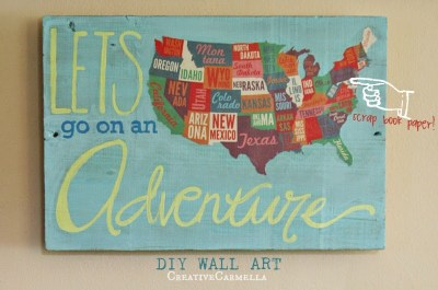 scrapbook paper map art