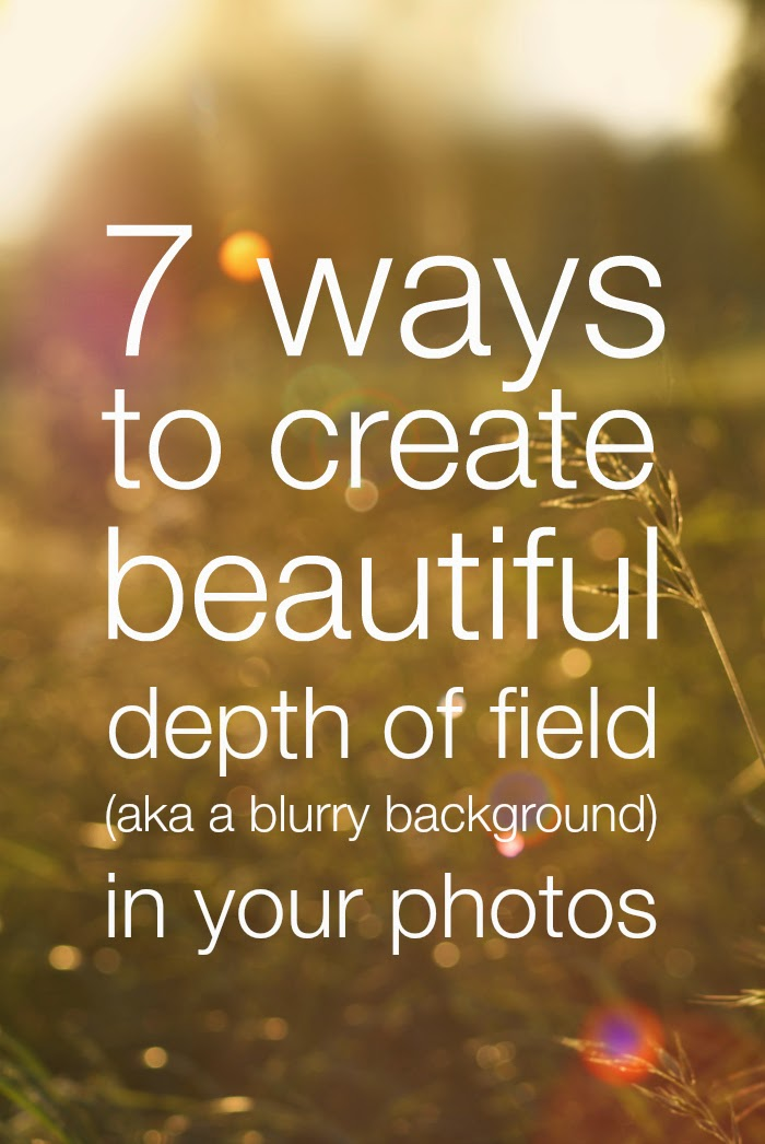 7 ways to create depth of field - Submarines and Sewing Machines
