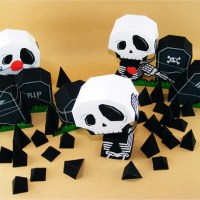 Freebie | 3 Templates for Halloween Tombstones