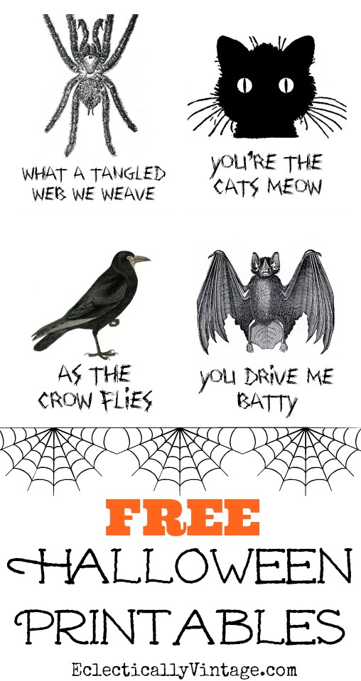 Freebie | Fun Halloween Printables