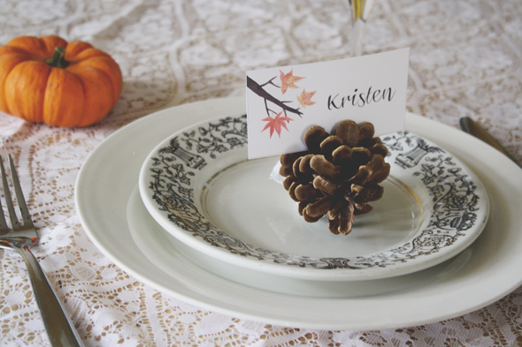 Freebie - Place setting for Thanksgiving from The Common Creative