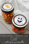 Freebie | Printable Label for Halloween Mason Jar Gift