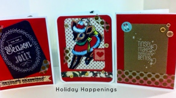 Tutorial - holiday happenings cards at Dedra's Crafts For a Cure