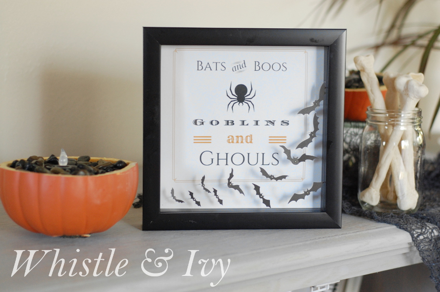 bats boos shadoow box from Whistle and ivy