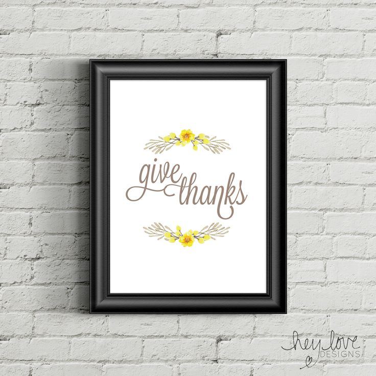 Printable Give Thanks Poster