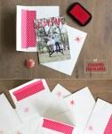 DIY Stamped Holiday Envelopes