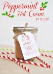 Freebie |Peppermint Hot Cocoa Mason Jar Tags