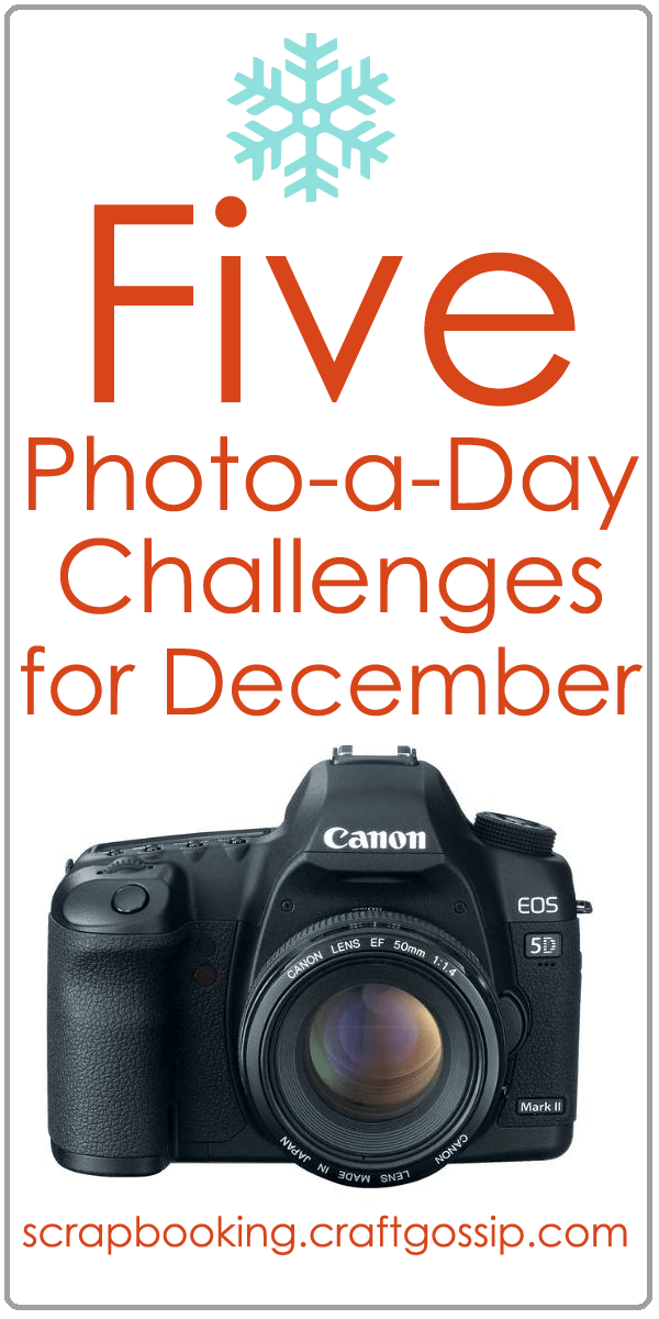5 Photo-a-Day Challenges for December at Craft Gossip