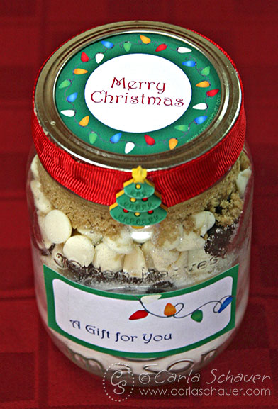Free Printable Christmas lights canning jar labels from Carla Schauer