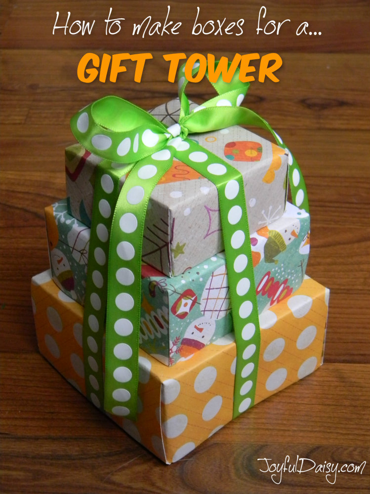 Tutorial | How to Make Boxes for a GIFT TOWER – Scrap Booking