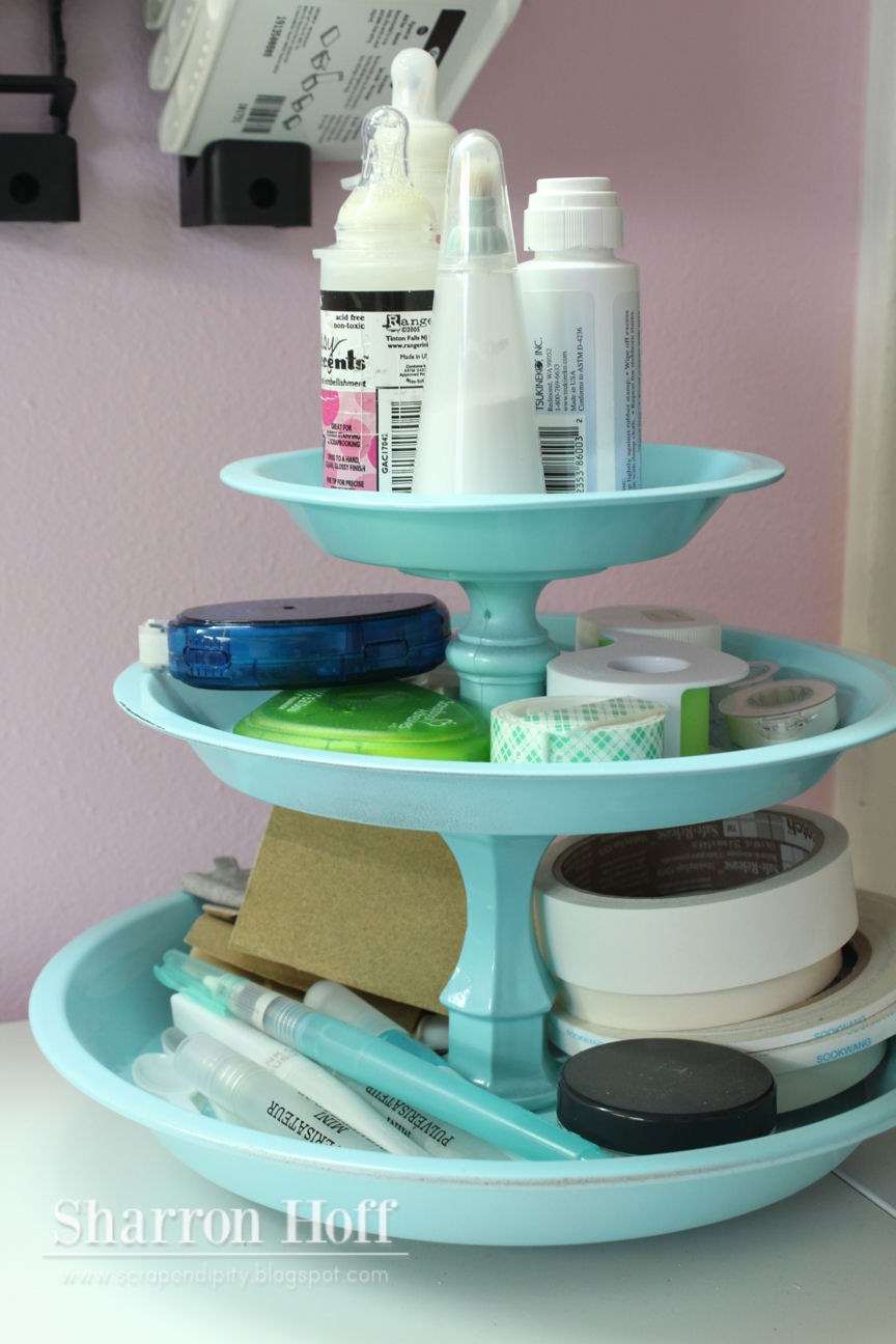 DIY Tiered Spinning Organizer by Scrapendipity
