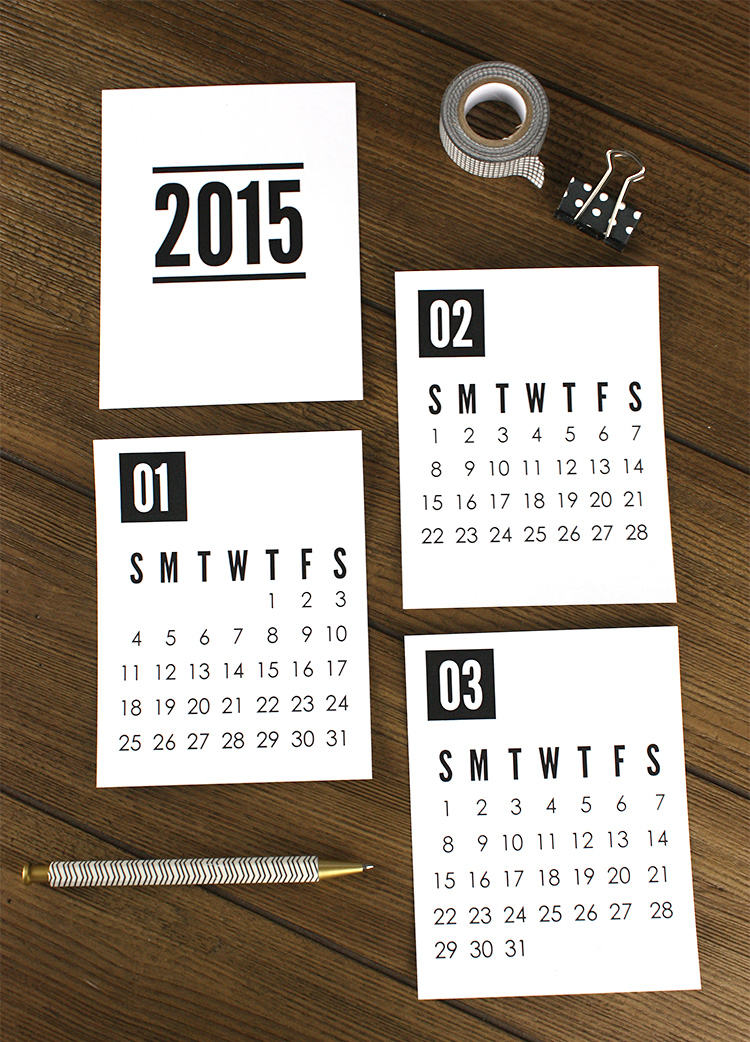 Printable 2015 Calendar from Christina Williams Blog