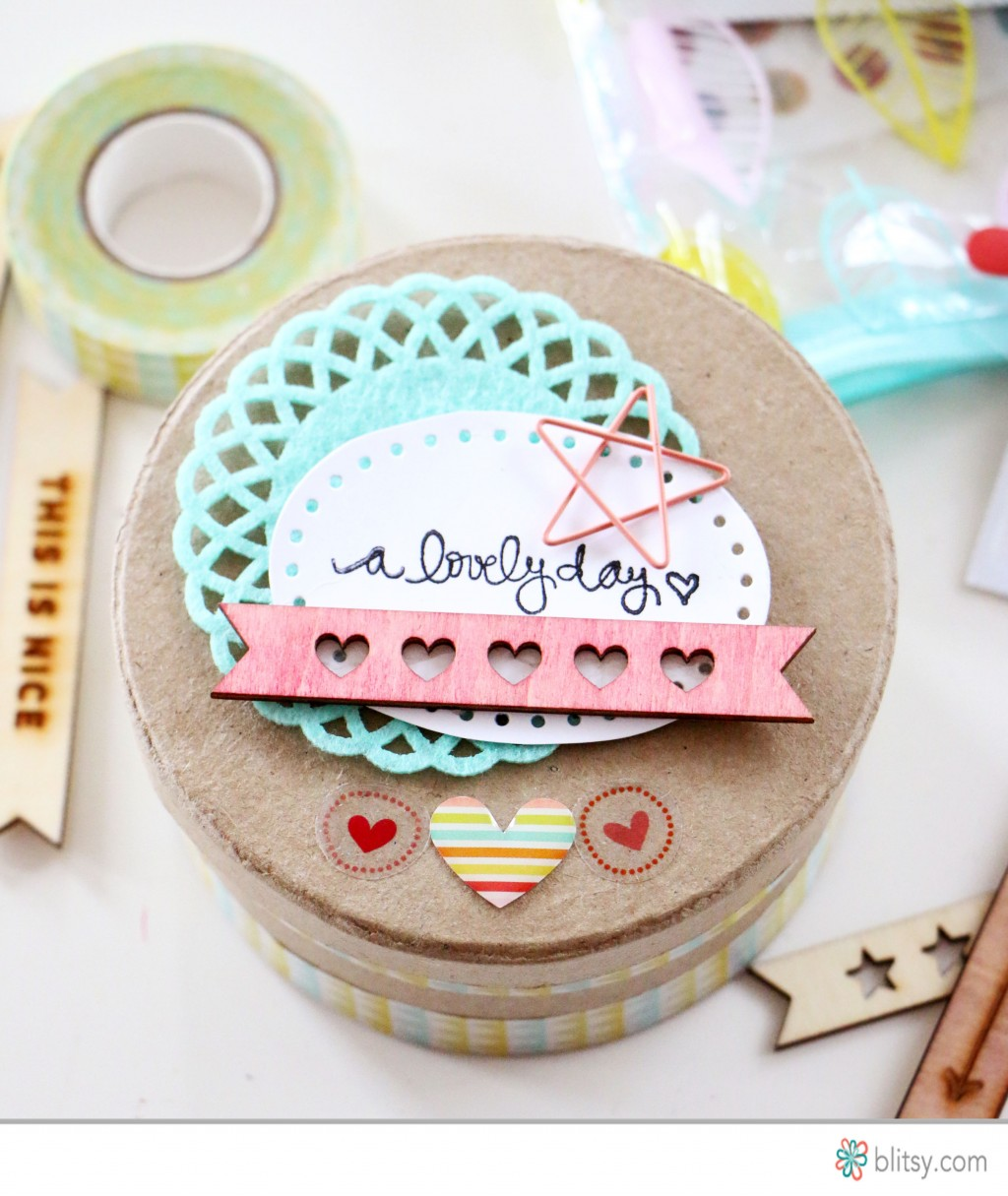 Tutorial - Storage Container for Small Embellishments at Blitsy