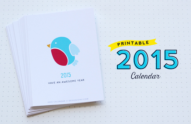 Year of Colour Printable 2015 Calender from Design is Yay