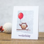 Stamping Tutorial | Wintery Birthday Cards