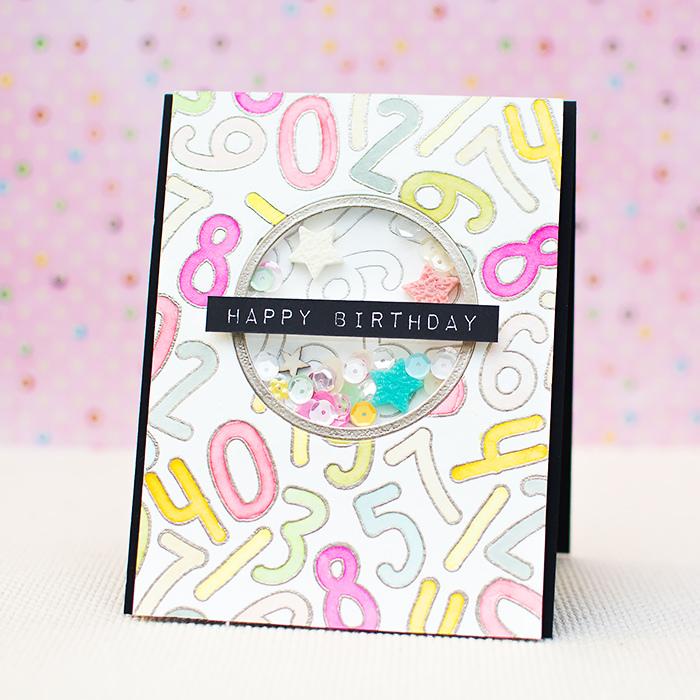 Tutorial | Happy Birthday Shaker Card