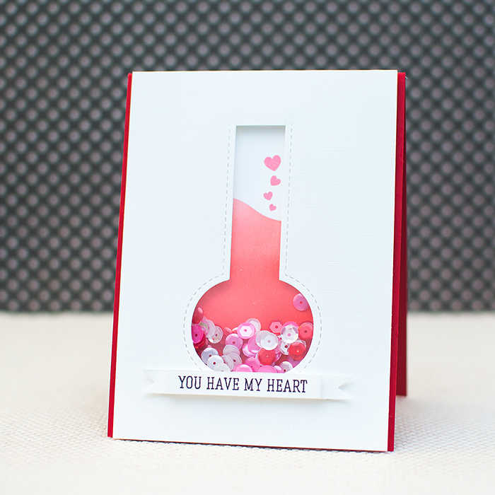 Tutorial | Valentine's Day Shaker Card