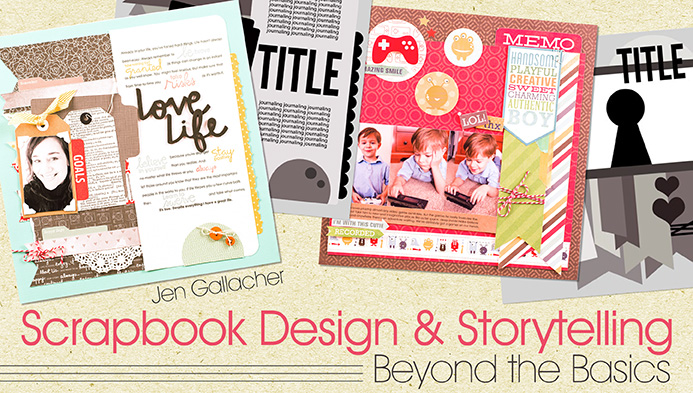 Craftsy Giveaway of Scrapbooking Class by Jen Gallacher