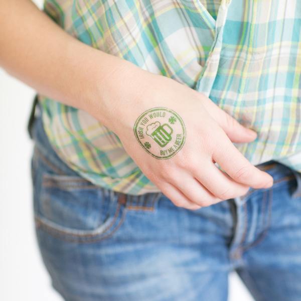Printable St.Patricks DayTattoos from Sugar and Charm