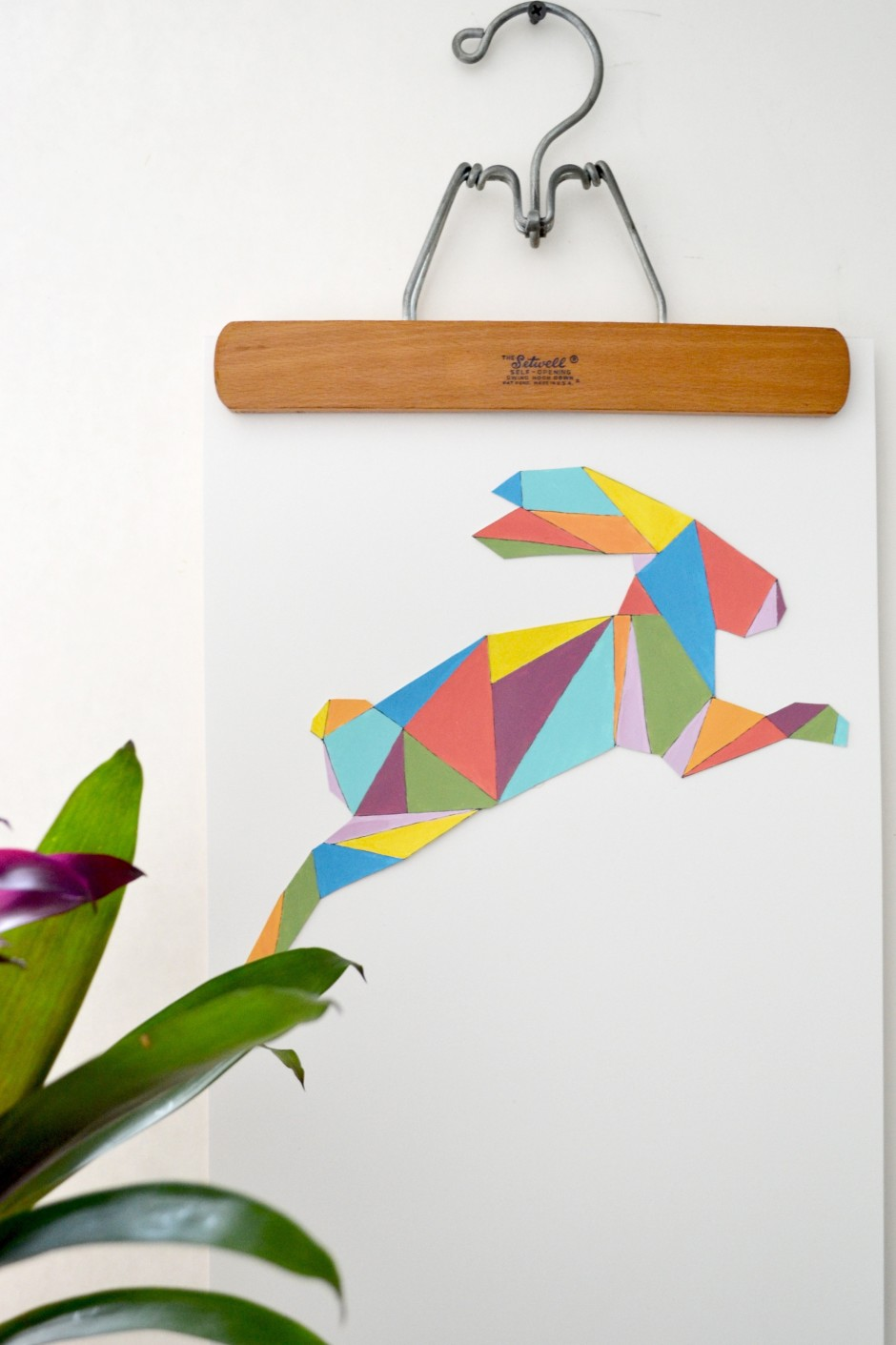 Geometrical Bunny Wall Art
