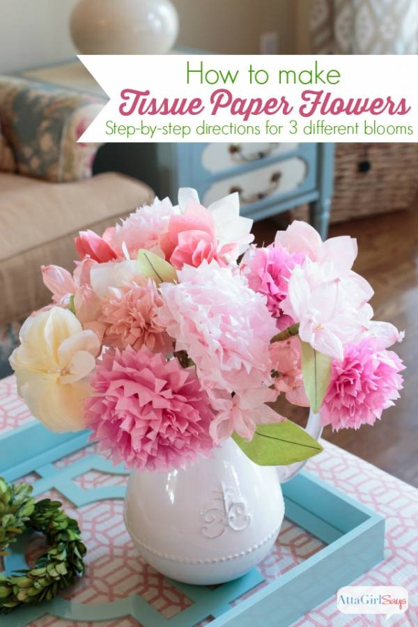 How to make tissue paper flowers scrap booking get the instructions for making three types of paper flowers from tissue paper and have beautiful blooms whenever you want this gorgeous bouquet will be mightylinksfo